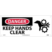 Danger, Keep Hands Clear, (W/Graphic), 7X17, Rigid Plastic