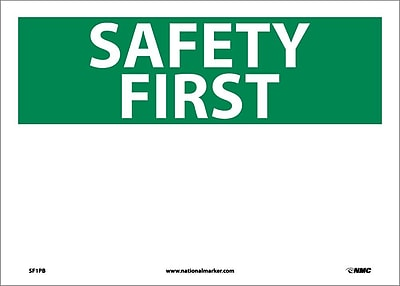 Safety First,(Heading Only), 10X14, Adhesive Vinyl