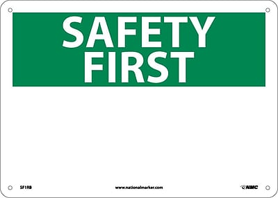 Safety First, (Heading Only), 10X14, Rigid Plastic