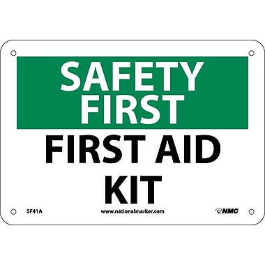 Safety First, First Aid Kit, 7X10, .040 Aluminum
