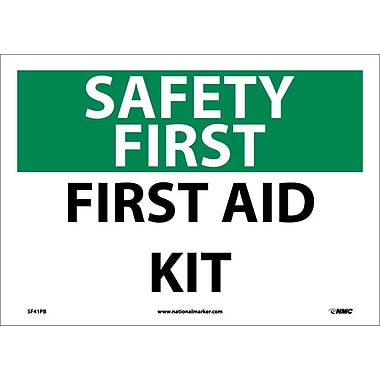 Safety First, First Aid Kit, 10X14, Adhesive Vinyl