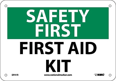 Safety First, First Aid Kit, 7X10, Rigid Plastic