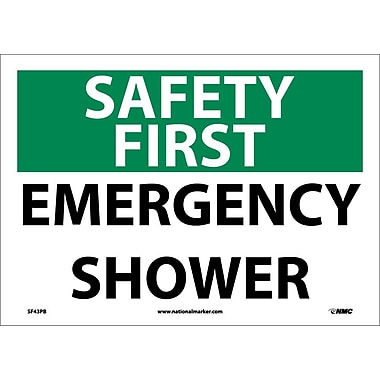 Safety First, Emergency Shower, 10X14, Adhesive Vinyl