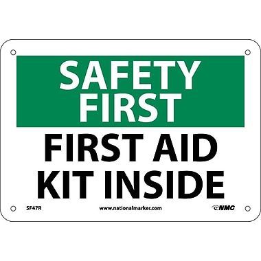 Safety First, First Aid Kit Inside, 7X10, Rigid Plastic