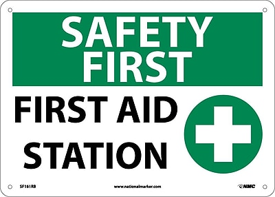 Safety First, First Aid Station, Graphic, 10X14, Rigid Plastic