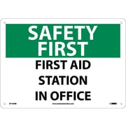 Safety First, First Aid Station In Office, 10X14, Rigid Plastic