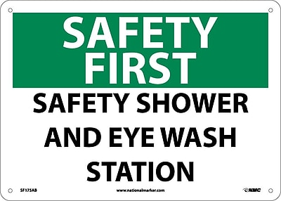 Safety First, Safety Shower And Eye Wash Station, 10X14, .040 Aluminum