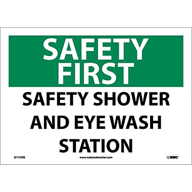 Safety First, Safety Shower And Eye Wash Station, 10X14, Adhesive Vinyl