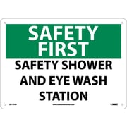 Safety First, Safety Shower And Eye Wash Station, 10X14, Rigid Plastic