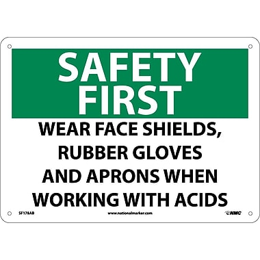Safety First, Wear Face Shields, Rubber Gloves And Aprons When Working with Acids