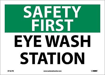 Safety First, Eye Wash Station, 10X14, Adhesive Vinyl