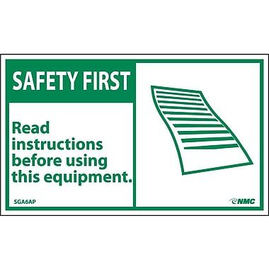 Safety First, Read Instructions Before Using This Equipment, 3