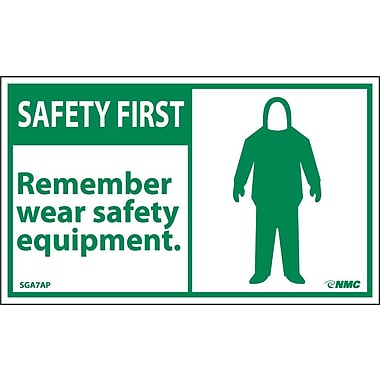 Safety First, Remember Wear Safety Equipment, 3