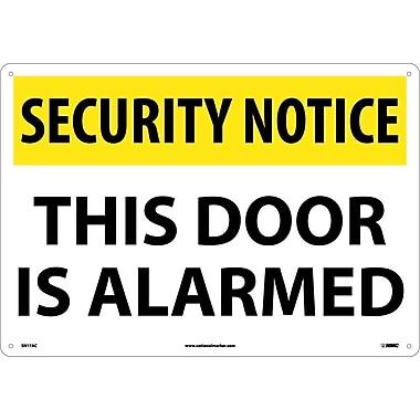 Security Notice, This Door Is Alarmed, 14