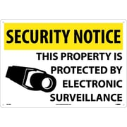 Security Notice, This Property Is Protected By Electronic Surveillance, 14X20, Rigid Plastic