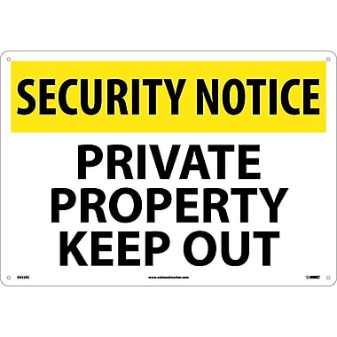 Security Notice, Private Property Keep Out, 14