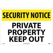 Security Notice, Private Property Keep Out, 14X20, Rigid Plastic