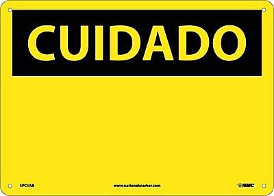 Cuidado, (Blank), (Spanish). 10X14, .040 Aluminum
