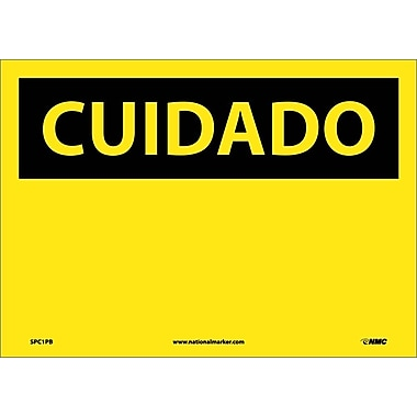 Cuidado, (Blank), (Spanish), 10X14, Adhesive Vinyl