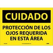 Cuidado, Proteccion De Los Ojos Requerida En Esta Area, 10X14, Adhesive Vinyl