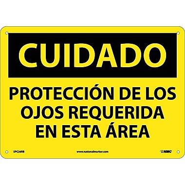 Cuidado, Proteccion De Los Ojos Requerida En Esta Area, 10X14, Rigid Plastic