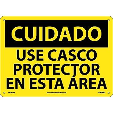 Cuidado, Caso Requierido En Esta Area, 10X14, Rigid Plastic