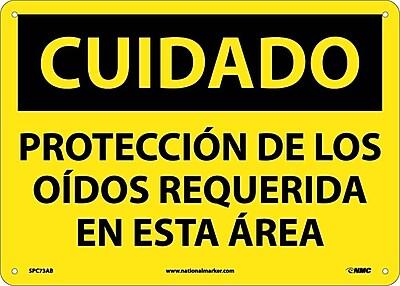 Cuidado, Proteccion De Los Oidos Requerida En Esta Area, 10X14, .040 Aluminum