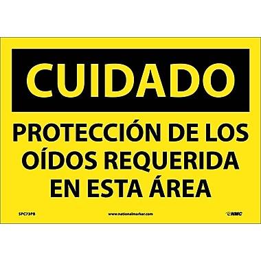 Cuidado, Proteccion De Los Oidos Requerida En Esta Area, 10X14, Adhesive Vinyl