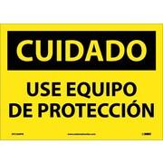 Cuidado, Use Equipo De Proteccion, 10X14, Adhesive Vinyl