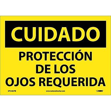 Cuidado, Proteccion De Los Ojos Requerida, 10X14, Adhesive Vinyl