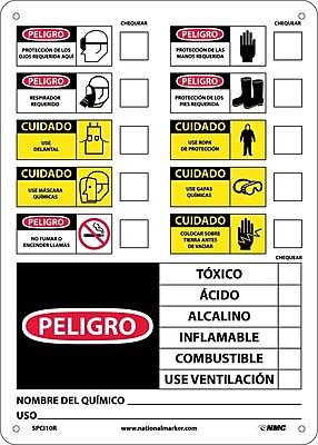 Labels, Chemical Id (Spanish), 14X10, Rigid Plastic