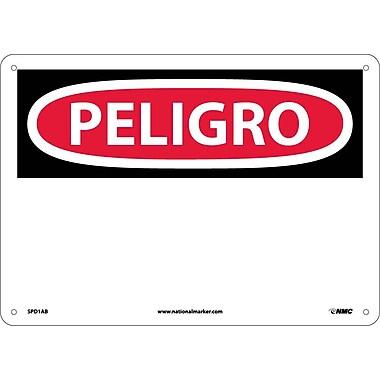 Peligro, (Blank), 10X14, .040 Aluminum