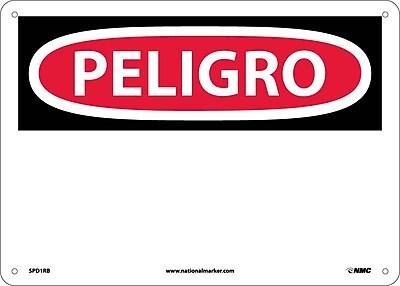 Peligro, (Blank), 10X14, Rigid Plastic