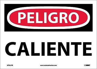 Peligro, Caliente, 10X14, Adhesive Vinyl