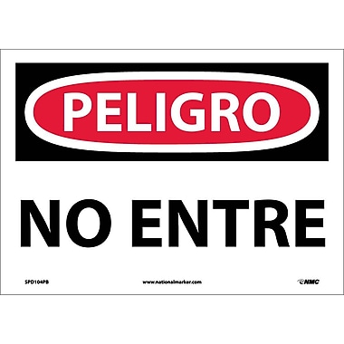 Peligro, No Entre, 10X14, Adhesive Vinyl