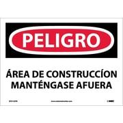 Peligro, Area De Construccion, 10X14, Adhesive Vinyl