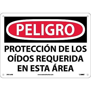 Peligro, Proteccion De Los Oidos Requerida En Esta Area, 10X14, Rigid Plastic