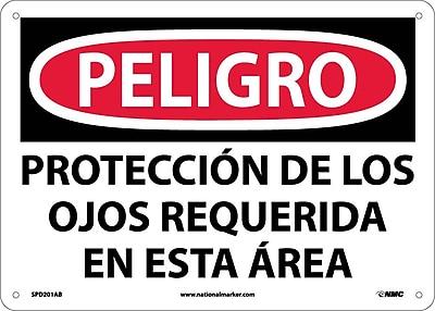 Peligro, Proteccion De Los Ojos Requerida En Esta Area, 10X14, .040 Aluminum