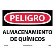 Peligro, Almacenamiento De Quimicos, 10X14, Adhesive Vinyl