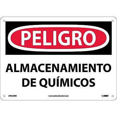 Peligro, Almacenamiento De Quimicos, 10X14, Rigid Plastic