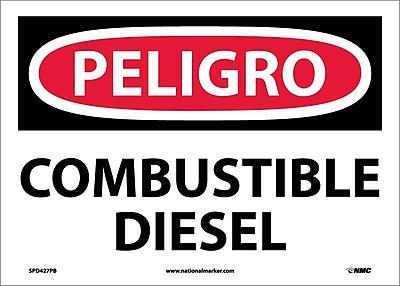 Peligro, Combustible Diesel, 10X14, Adhesive Vinyl