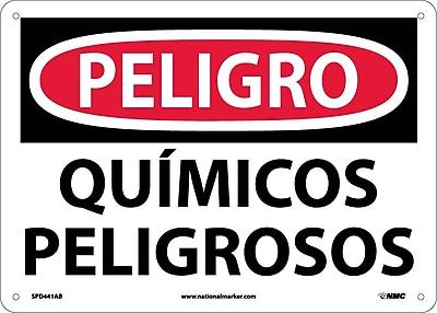 Peligro, Quimicos Peligrosos, 10X14, .040 Aluminum