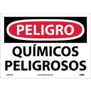 Peligro, Quimicos Peligrosos, 10X14, Adhesive Vinyl