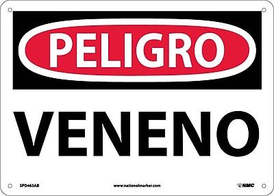 Peligro, Veneno, 10X14, .040 Aluminum