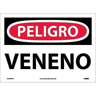 Peligro, Veneno, 10X14, Adhesive Vinyl