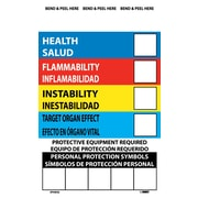 Right To Know Labels, Write On Color Bar (Bilingual), 6X4, Adhesive Vinyl, 10/Pk