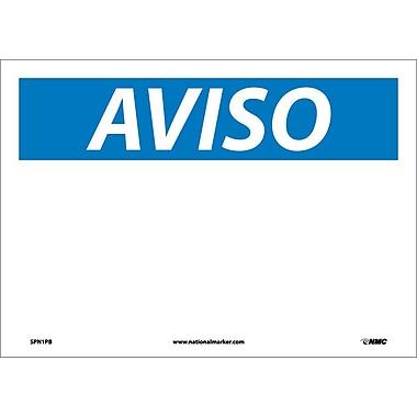 Aviso, Blank ,14X10, Adhesive Vinyl