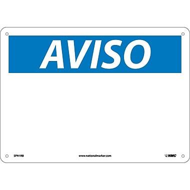 Aviso, Blank, 14X10, Rigid Plastic