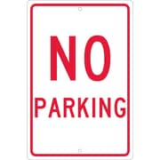 "No Parking, 18"" x 12"", .063 Aluminum"
