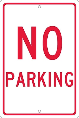 No Parking, 18X12, .063 Aluminum